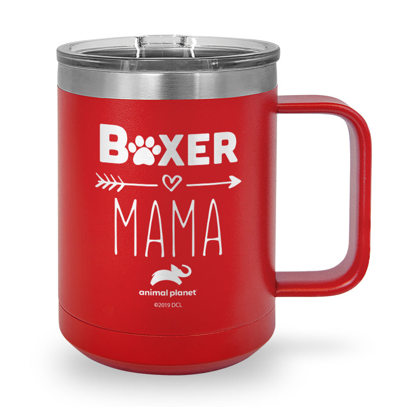 Boxer Heart Mama Laser Etched Stainless Steel Coffee Mug