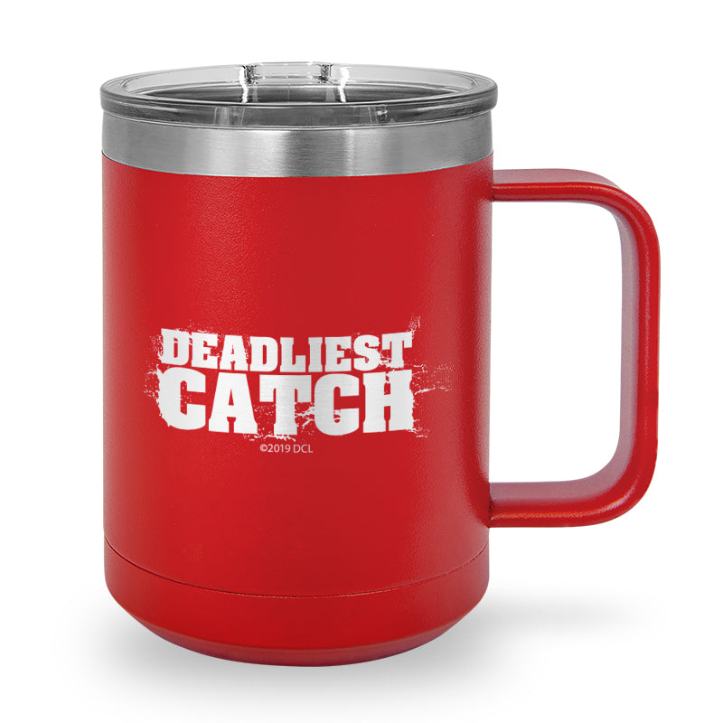 Deadliest Catch Logo Laser Etched Stainless Steel Coffee Mug