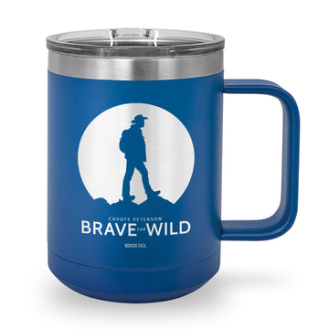 Coyote Silhouette Laser Etched Stainless Steel Coffee Mug