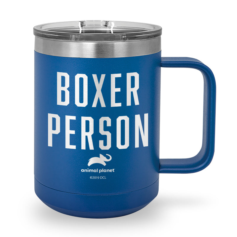 Boxer Person Laser Etched Stainless Steel Coffee Mug