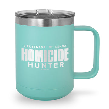 Homicide Hunter Logo Laser Etched Stainless Steel Coffee Mug