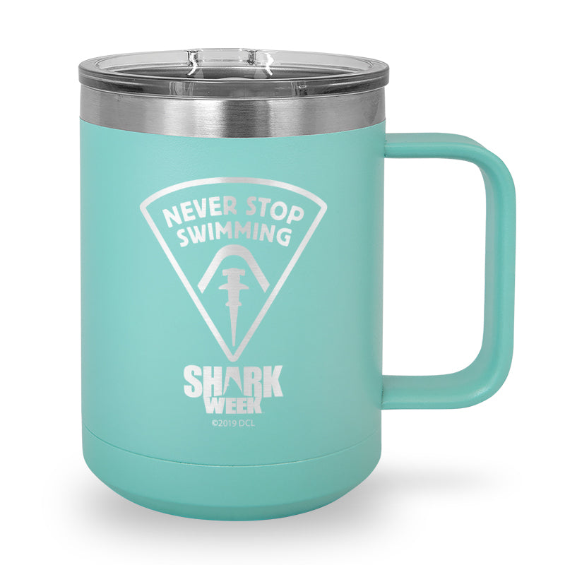 Never Stop Swimming Laser Etched Stainless Steel Coffee Mug