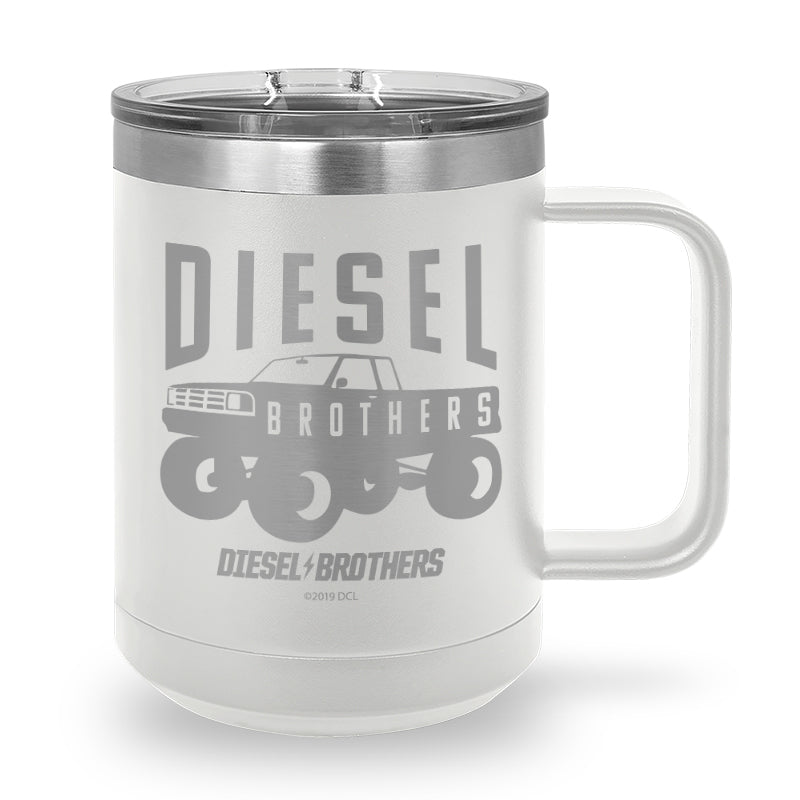 Truck Silhouette Laser Etched Stainless Steel Coffee Mug