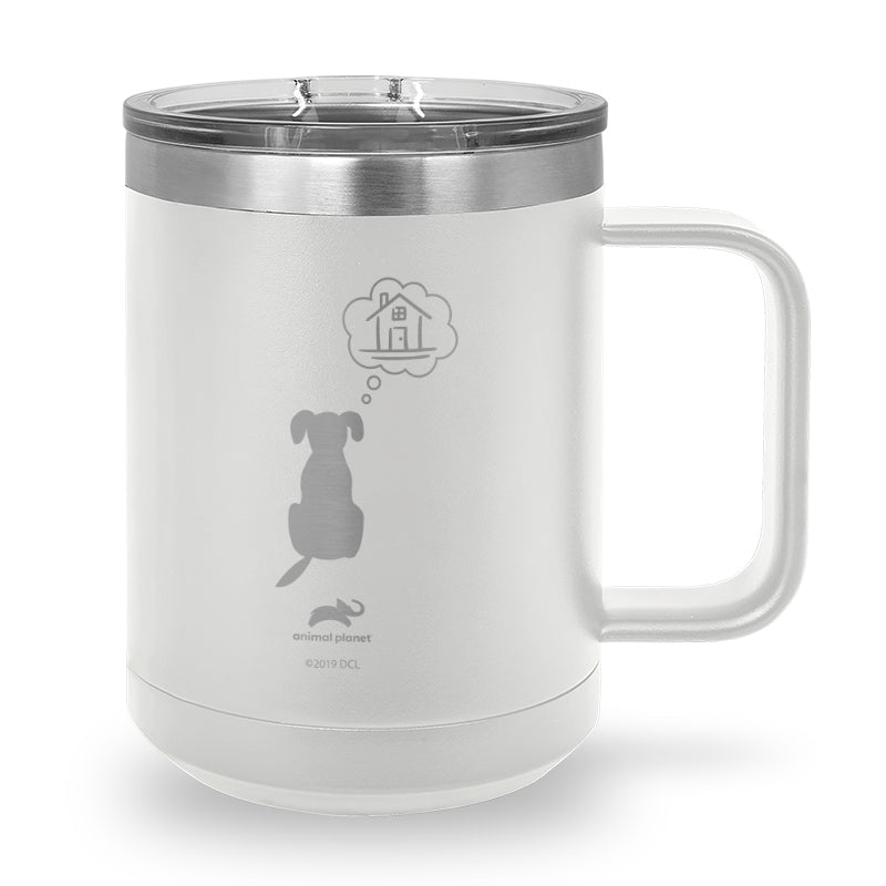 Dreaming of Home Laser Etched Stainless Steel Coffee Mug