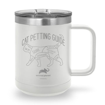 Cat Petting Guide Laser Etched Stainless Steel Coffee Mug