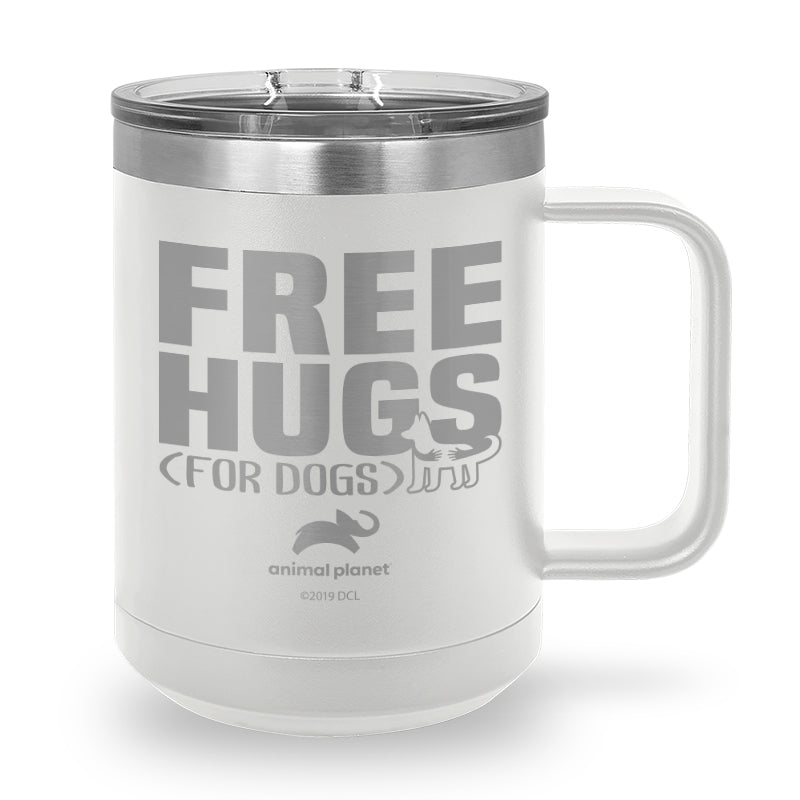 Free Hugs for Dogs Laser Etched Stainless Steel Coffee Mug