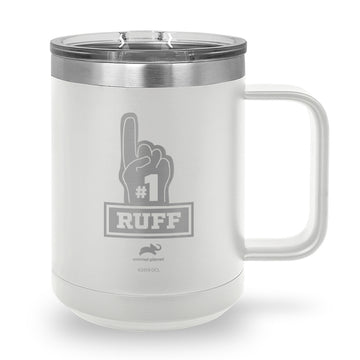 Ruff #1 Laser Etched Stainless Steel Coffee Mug