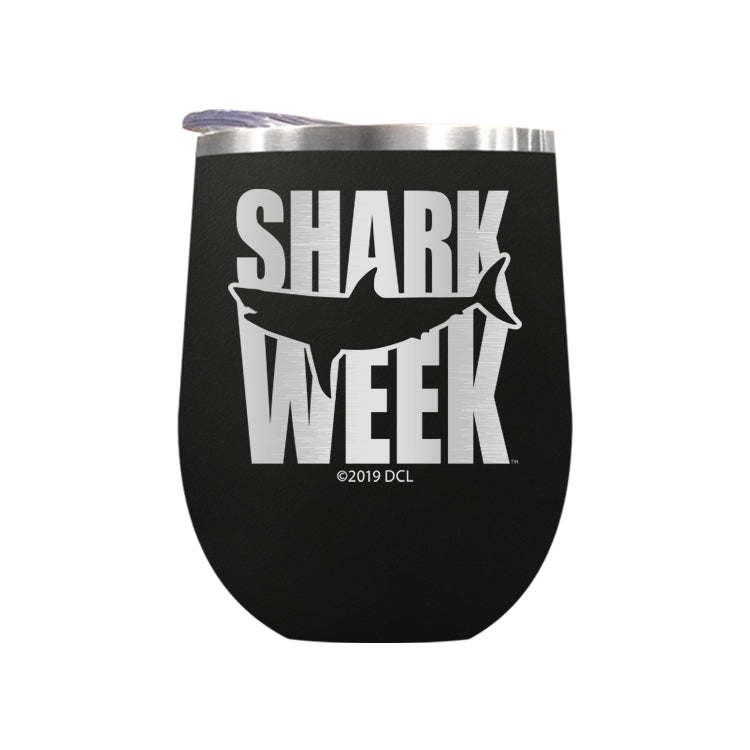 Great White Silhouette Laser Etched Drinkware (3512532172899)