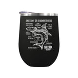 Anatomy of a Hammerhead Laser Etched Drinkware
