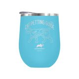 Cat Petting Guide Laser Etched Drinkware