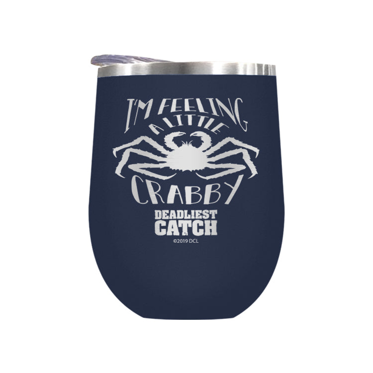 I'm Feeling a Little Crabby Laser Etched Drinkware (1551903916131)