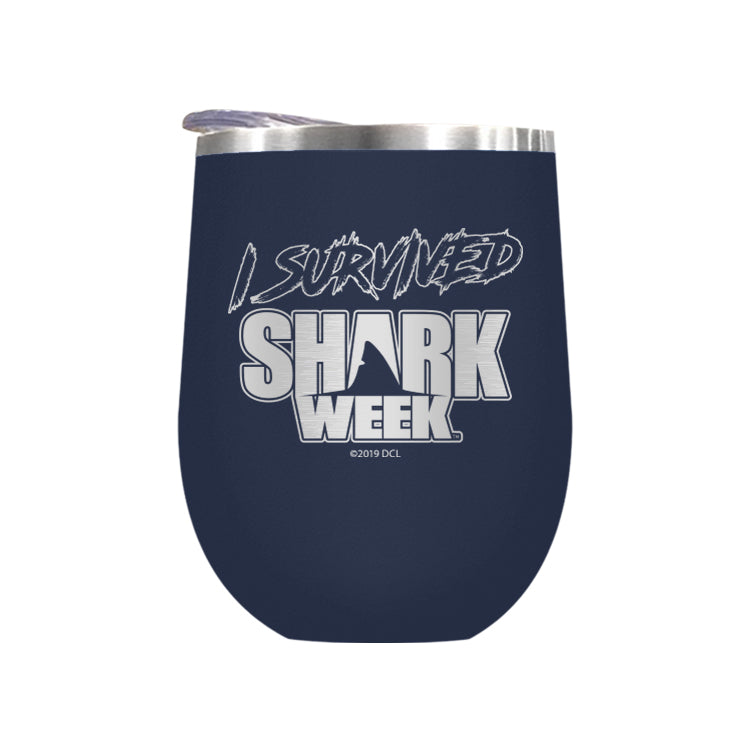 I Survived Shark Week Laser Etched Drinkware (1552150593635)