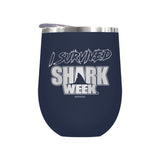 I Survived Shark Week Laser Etched Drinkware