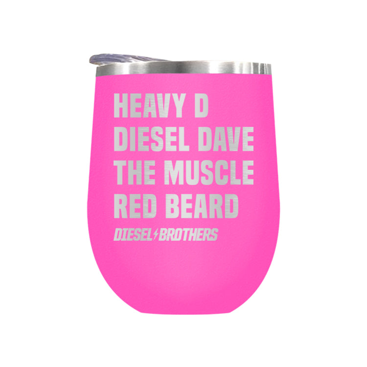 Heavy D Diesel Dave The Muscle Red Beard Laser Etched Drinkware (3489114980451)