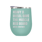 Heavy D Diesel Dave The Muscle Red Beard Laser Etched Drinkware