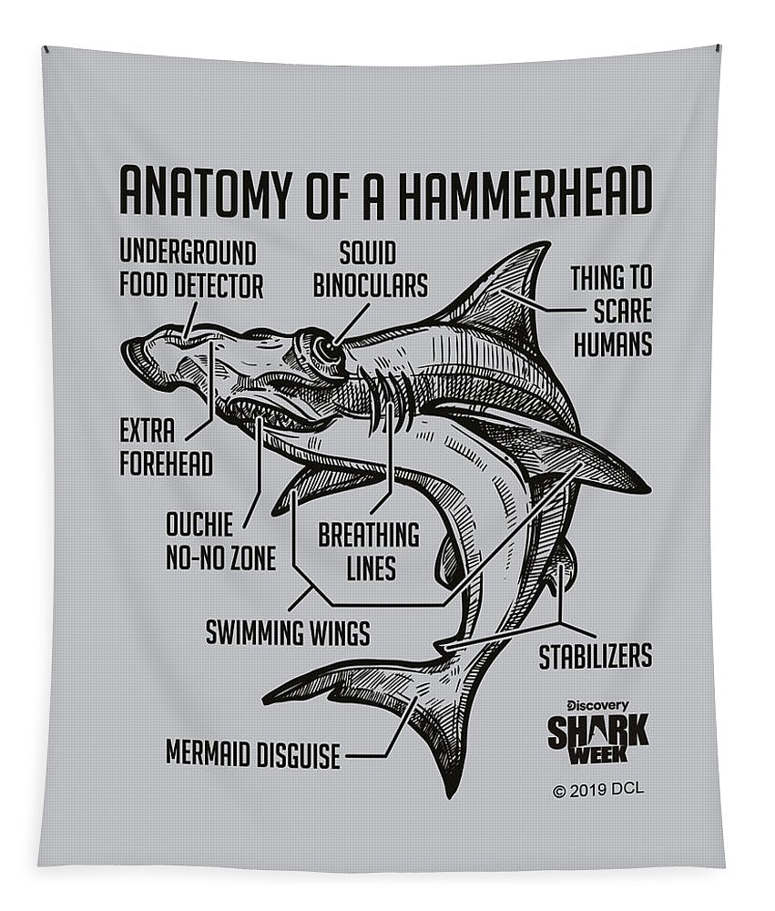Anatomy of a Hammerhead - Tapestry