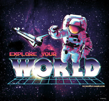 Retro Astronaut - Explore Your World - Art Print