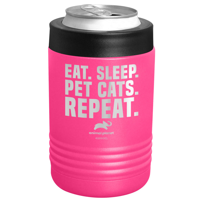 Animal Planet - Eat Sleep Pet Cats Repeat Stainless Steel Beverage Holder