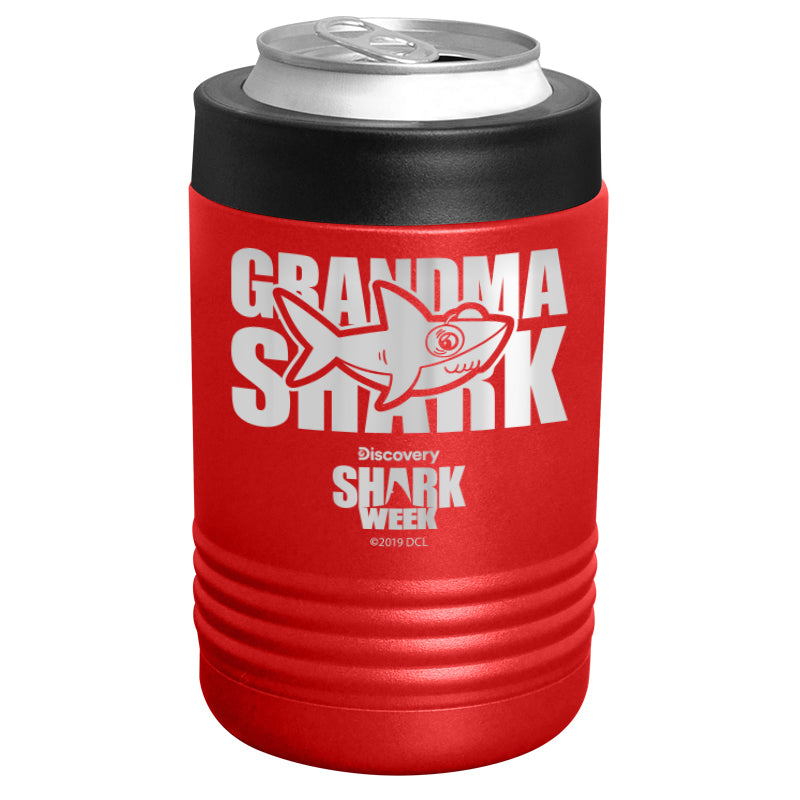 Shark Week - Grandma Shark Stainless Steel Beverage Holder