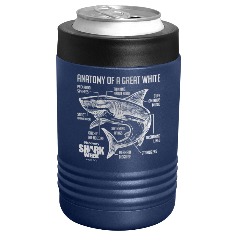 Shark Week - Anatomy of a Great White Shark Stainless Steel Beverage Holder