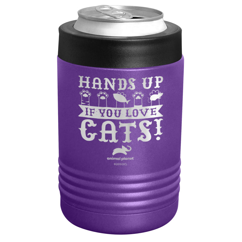 Animal Planet - Hands Up If You Love Cats Stainless Steel Beverage Holder