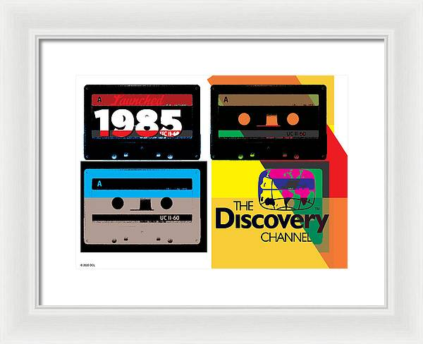 Retro Music Tapes - Framed Print