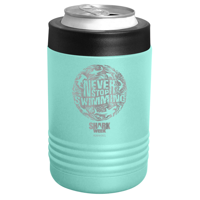 Shark Week - Never Stop Swimming Thumbprint Stainless Steel Beverage Holder