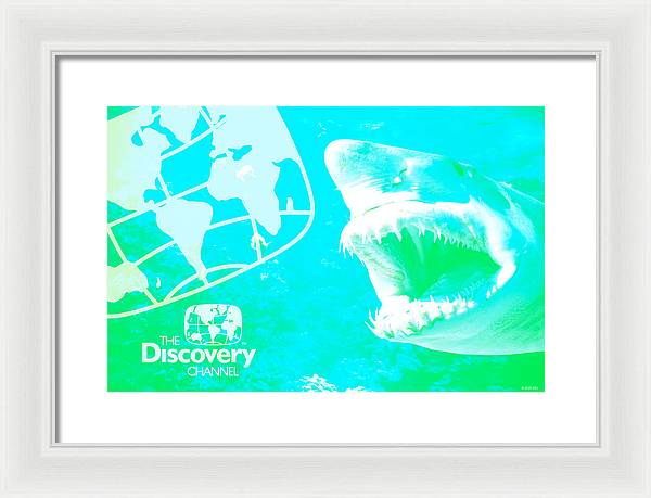 Retro Shark Photo - Framed Print