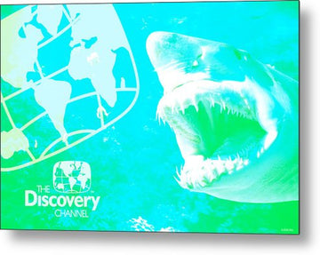 Retro Shark Photo - Metal Print