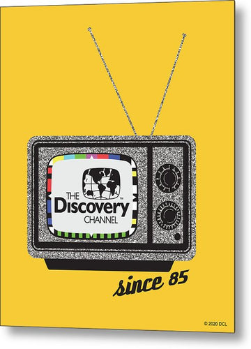 Retro TV - Metal Print