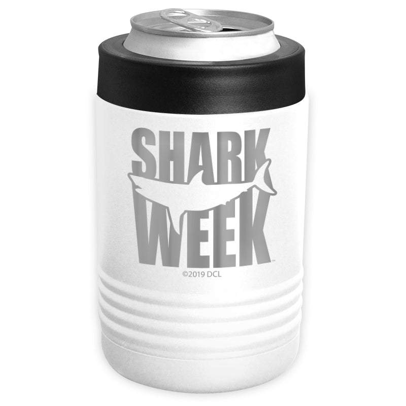 Shark Week - Great White Silhouette Stainless Steel Beverage Holder