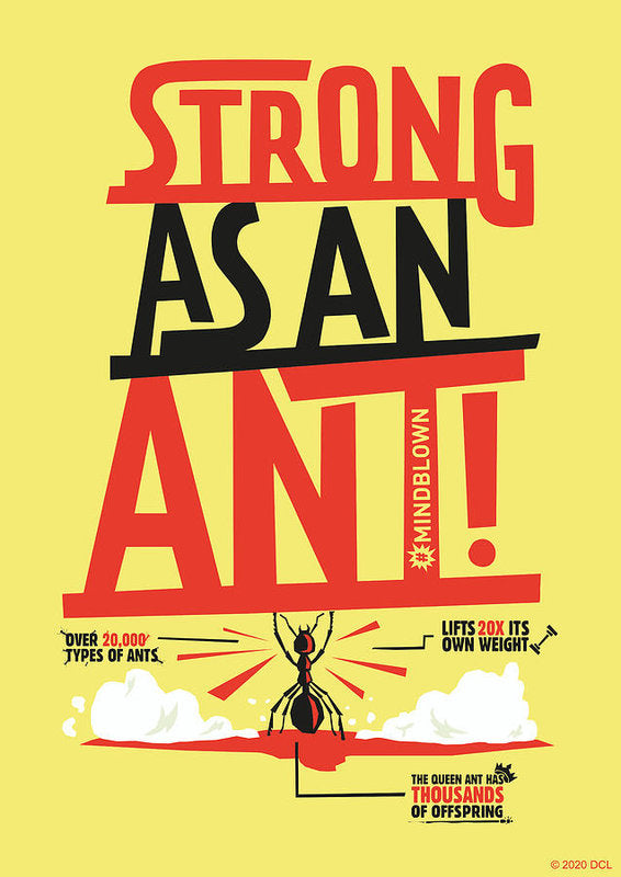 Strong As An Ant - Art Print