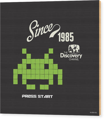 Retro Video Game - Wood Print