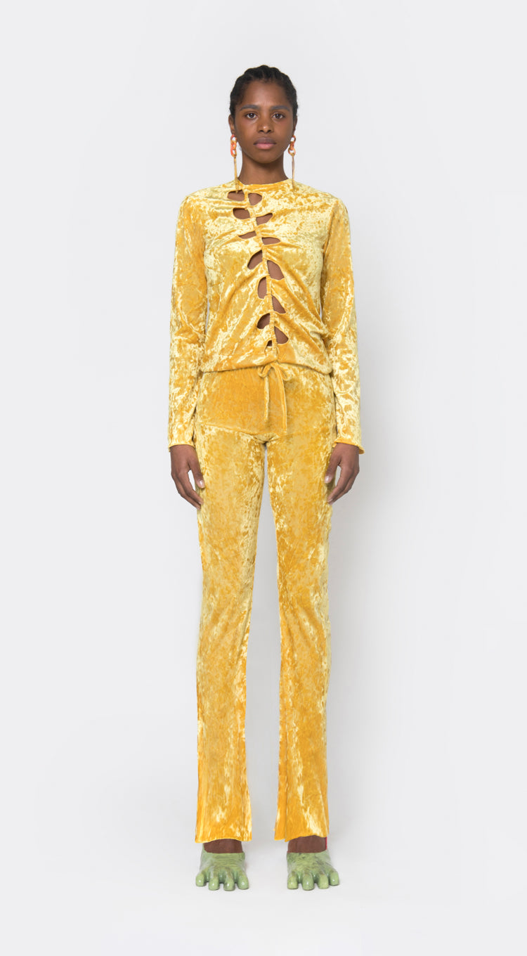 Apartment Pants, Yellow Velvet