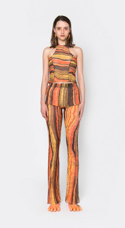 Apartment Pants, Orange Jungle