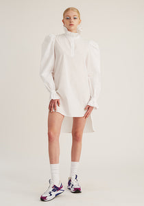 Ruffle Shirt Tunic, White (4489559638100)