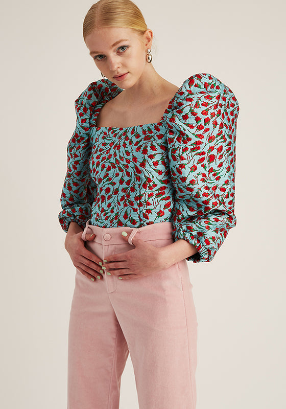 Jacquard Puffy Top, Blue (4528085696596)