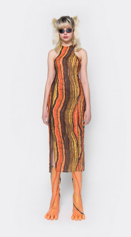 Apartment Dress, Orange Jungle