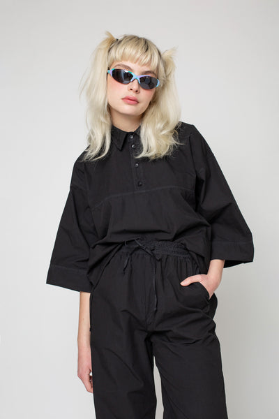 Holy Bowling Shirt (Oversized), Black