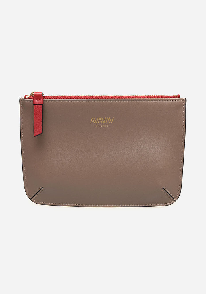 Small Pouch in Taupe - AVAVAV-Small Pouch in Taupe