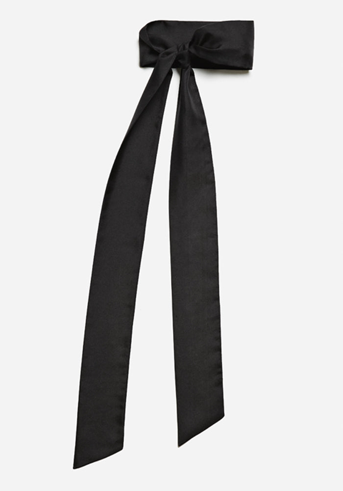Silk Scarf in Black - AVAVAV-Silk Scarf in Black