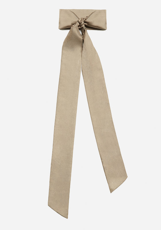 Silk Scarf in Taupe - AVAVAV-Silk Scarf in Taupe