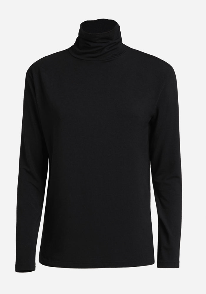 Long Sleeve Polo in Black - AVAVAV-Long Sleeve Polo in Black