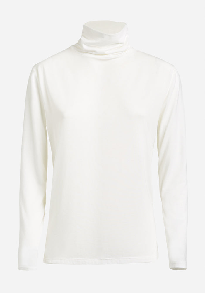 Long Sleeve Polo in Off-White