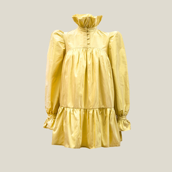 Mini Ruffle Dress, Soft Yellow