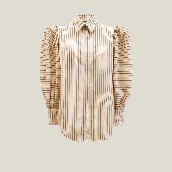 Puff Shirt, Stripe - AVAVAV-Puff Shirt, Stripe (4446528438356)