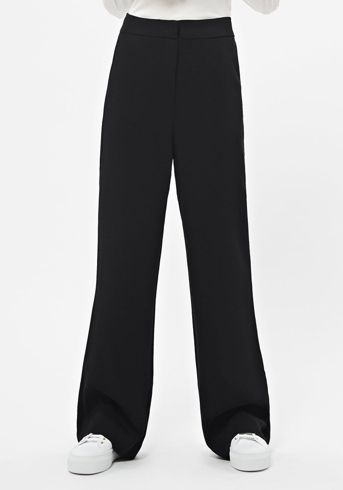 Long Wide Pants in Black - AVAVAV-Long Wide Pants in Black