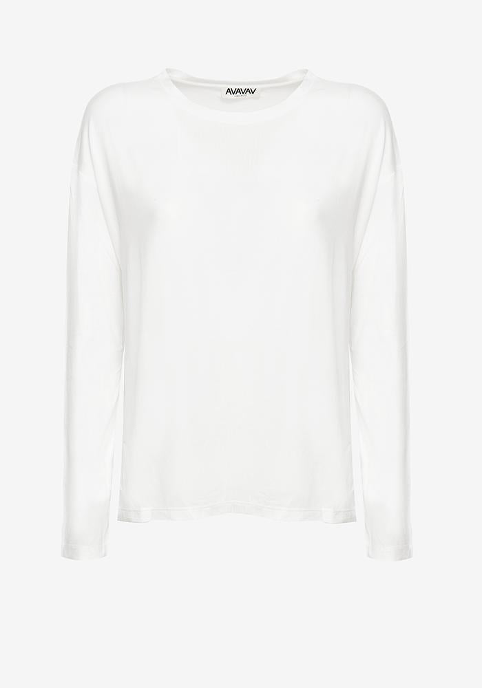 Long Sleeve Tee in Off-white - AVAVAV-Long Sleeve Tee in Off-white