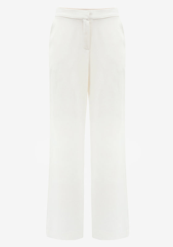 Long Wide Pants in Off-White - AVAVAV-Long Wide Pants in Off-White