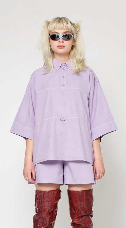 Holy Bowling Shirt (Oversized), Lilac